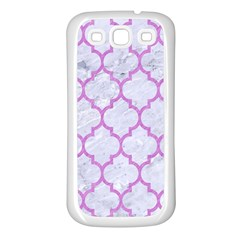 Tile1 White Marble & Purple Colored Pencil (r) Samsung Galaxy S3 Back Case (white) by trendistuff