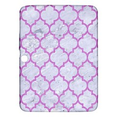 Tile1 White Marble & Purple Colored Pencil (r) Samsung Galaxy Tab 3 (10 1 ) P5200 Hardshell Case  by trendistuff