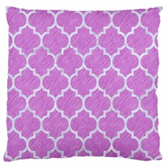 Tile1 White Marble & Purple Colored Pencil Large Cushion Case (one Side)