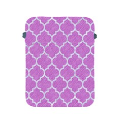 Tile1 White Marble & Purple Colored Pencil Apple Ipad 2/3/4 Protective Soft Cases by trendistuff