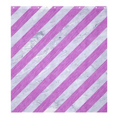 Stripes3 White Marble & Purple Colored Pencil (r) Shower Curtain 66  X 72  (large)  by trendistuff