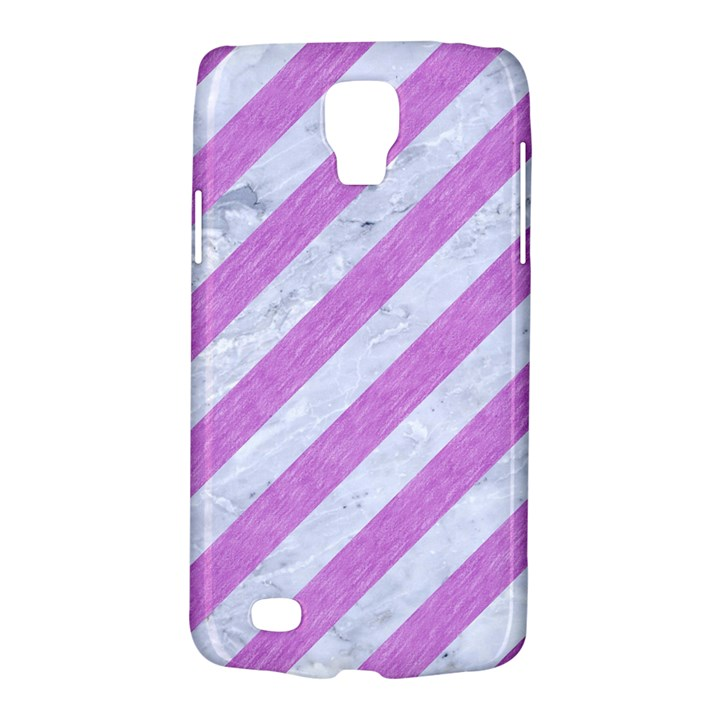 STRIPES3 WHITE MARBLE & PURPLE COLORED PENCIL (R) Galaxy S4 Active