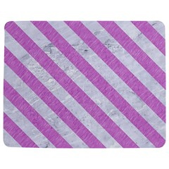 Stripes3 White Marble & Purple Colored Pencil Jigsaw Puzzle Photo Stand (rectangular)