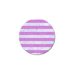 Stripes2white Marble & Purple Colored Pencil Golf Ball Marker (4 Pack) by trendistuff