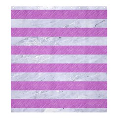Stripes2white Marble & Purple Colored Pencil Shower Curtain 66  X 72  (large)  by trendistuff