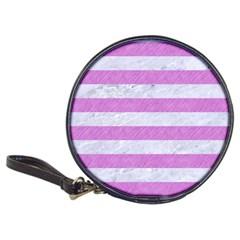 Stripes2white Marble & Purple Colored Pencil Classic 20 Cd Wallets by trendistuff