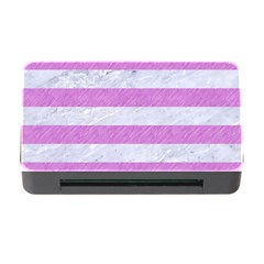 Stripes2white Marble & Purple Colored Pencil Memory Card Reader With Cf by trendistuff