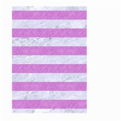 Stripes2white Marble & Purple Colored Pencil Large Garden Flag (two Sides) by trendistuff