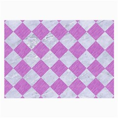 Square2 White Marble & Purple Colored Pencil Large Glasses Cloth by trendistuff
