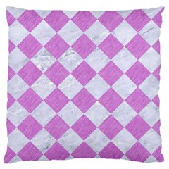 Square2 White Marble & Purple Colored Pencil Standard Flano Cushion Case (one Side) by trendistuff