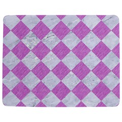 Square2 White Marble & Purple Colored Pencil Jigsaw Puzzle Photo Stand (rectangular) by trendistuff