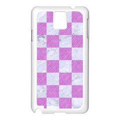 Square1 White Marble & Purple Colored Pencil Samsung Galaxy Note 3 N9005 Case (white) by trendistuff
