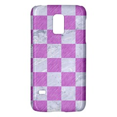 Square1 White Marble & Purple Colored Pencil Galaxy S5 Mini by trendistuff