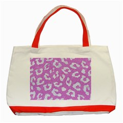Skin5 White Marble & Purple Colored Pencil (r) Classic Tote Bag (red) by trendistuff
