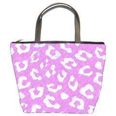 Skin5 White Marble & Purple Colored Pencil (r) Bucket Bags by trendistuff