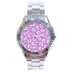 Skin5 White Marble & Purple Colored Pencil (r) Stainless Steel Analogue Watch by trendistuff