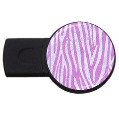 Skin4 White Marble & Purple Colored Pencil (r) Usb Flash Drive Round (4 Gb) by trendistuff
