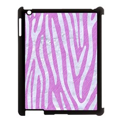 Skin4 White Marble & Purple Colored Pencil (r) Apple Ipad 3/4 Case (black) by trendistuff