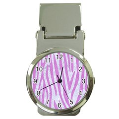 Skin4 White Marble & Purple Colored Pencil Money Clip Watches by trendistuff