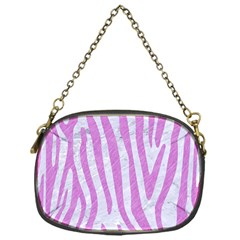 Skin4 White Marble & Purple Colored Pencil Chain Purses (one Side)  by trendistuff