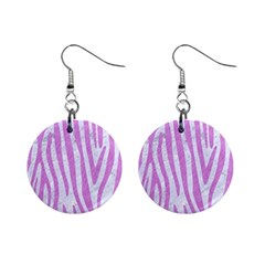 Skin4 White Marble & Purple Colored Pencil Mini Button Earrings by trendistuff