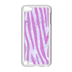Skin4 White Marble & Purple Colored Pencil Apple Ipod Touch 5 Case (white) by trendistuff