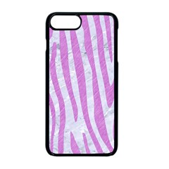 Skin4 White Marble & Purple Colored Pencil Apple Iphone 8 Plus Seamless Case (black)