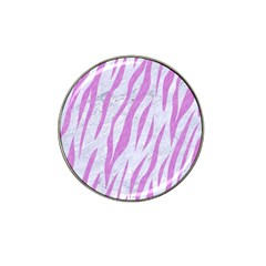 Skin3 White Marble & Purple Colored Pencil (r) Hat Clip Ball Marker by trendistuff