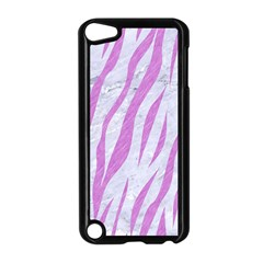 Skin3 White Marble & Purple Colored Pencil (r) Apple Ipod Touch 5 Case (black) by trendistuff