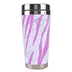 Skin3 White Marble & Purple Colored Pencil (r) Stainless Steel Travel Tumblers by trendistuff