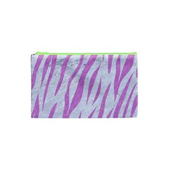 Skin3 White Marble & Purple Colored Pencil (r) Cosmetic Bag (xs) by trendistuff