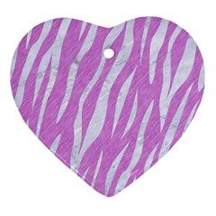 Skin3 White Marble & Purple Colored Pencil Ornament (heart) by trendistuff