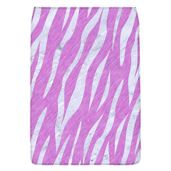 SKIN3 WHITE MARBLE & PURPLE COLORED PENCIL Flap Covers (L)