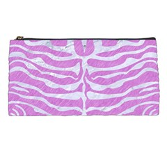 Skin2 White Marble & Purple Colored Pencil Pencil Cases by trendistuff