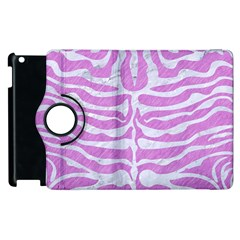 Skin2 White Marble & Purple Colored Pencil Apple Ipad 2 Flip 360 Case by trendistuff