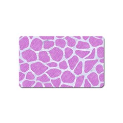 Skin1 White Marble & Purple Colored Pencil (r) Magnet (name Card) by trendistuff