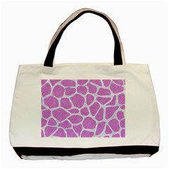 Skin1 White Marble & Purple Colored Pencil (r) Basic Tote Bag (two Sides) by trendistuff