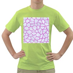 Skin1 White Marble & Purple Colored Pencil Green T Shirt by trendistuff