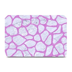 Skin1 White Marble & Purple Colored Pencil Plate Mats by trendistuff