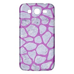 Skin1 White Marble & Purple Colored Pencil Samsung Galaxy Mega 5 8 I9152 Hardshell Case  by trendistuff