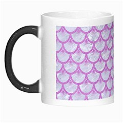 Scales3 White Marble & Purple Colored Pencil (r) Morph Mugs by trendistuff