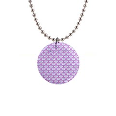 Scales3 White Marble & Purple Colored Pencil (r) Button Necklaces by trendistuff