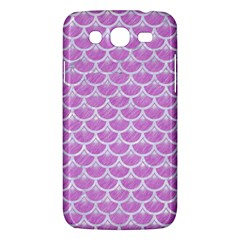 Scales3 White Marble & Purple Colored Pencil Samsung Galaxy Mega 5 8 I9152 Hardshell Case  by trendistuff