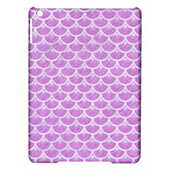 Scales3 White Marble & Purple Colored Pencil Ipad Air Hardshell Cases by trendistuff