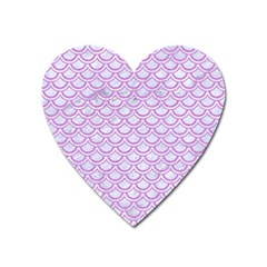 Scales2 White Marble & Purple Colored Pencil (r) Heart Magnet by trendistuff