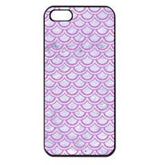 Scales2 White Marble & Purple Colored Pencil (r) Apple Iphone 5 Seamless Case (black) by trendistuff