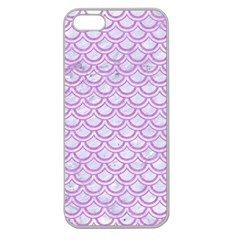 Scales2 White Marble & Purple Colored Pencil (r) Apple Seamless Iphone 5 Case (clear) by trendistuff