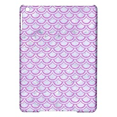 Scales2 White Marble & Purple Colored Pencil (r) Ipad Air Hardshell Cases by trendistuff