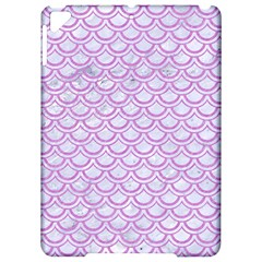 Scales2 White Marble & Purple Colored Pencil (r) Apple Ipad Pro 9 7   Hardshell Case by trendistuff