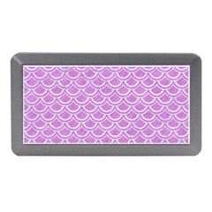 Scales2 White Marble & Purple Colored Pencil Memory Card Reader (mini) by trendistuff
